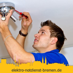 Lampen montieren vom Elektro Notdienst Hemelingen